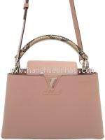 SA Túi Louis Vuitton capucine PM hồng quai da trăn