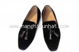 MSaS Giày nam Christian Louboutin nhưng đen size 39-MSaS-Giay-nam-Christian-Louboutin-nhung-den-size-39