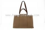 MS419 Túi Hermes vải mix da màu xám đậm