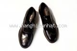 MS5342 Giày nam Salvatore Ferragamo đen buộc dây size 8EEE