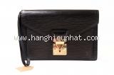 MS02 Cầm tay Louis Vuitton epi dragon đen khóa vàng
