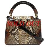 Túi xách nữ Louis Vuitton capucines mini da trăn