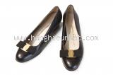 Giày Salvatore Ferragamo nơ vara đen size 6D